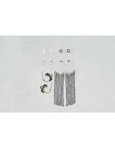 AEO Studs & Fringe Earrings 6-Pack  -