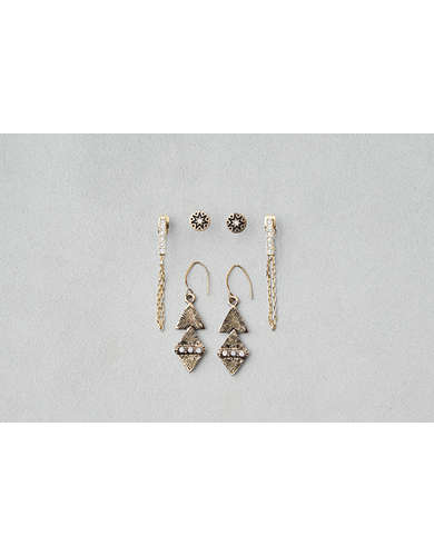 AEO Draped Chain & Dangles 3-Pack Earrings - Buy One Get One 50% Off