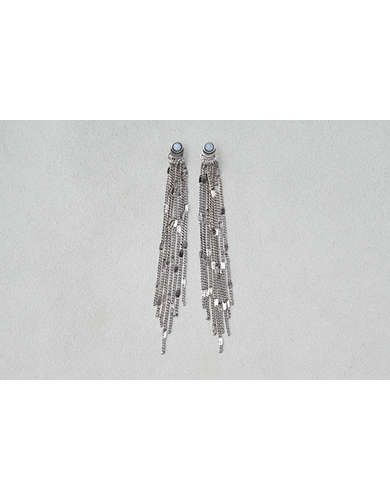 AEO Silver Chain Shoulder Duster Earring -
