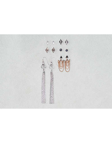 AEO Ear Jackets & Dangles Mixed Metals 6-Pack Earrings - Buy One Get One 50% Off