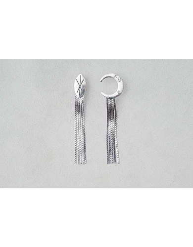AEO Moon + Chain Shoulder Duster Earrings -