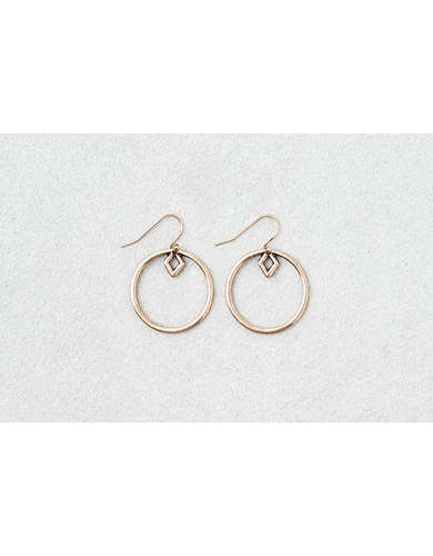 AEO Geo Shape Gold Hoops  -