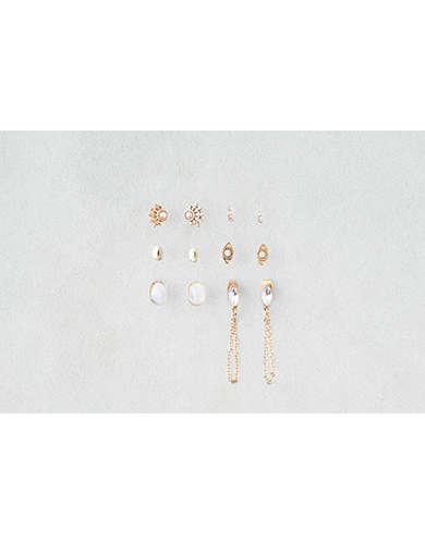 AEO Draped Chain Studs Earring 6-Pack - Buy One Get One 50% Off