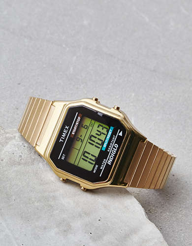 Timex Gold Digital Watch -