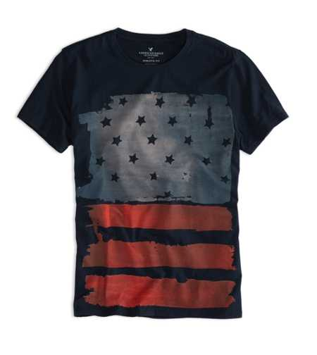 AEO Factory Flag Graphic T-Shirt