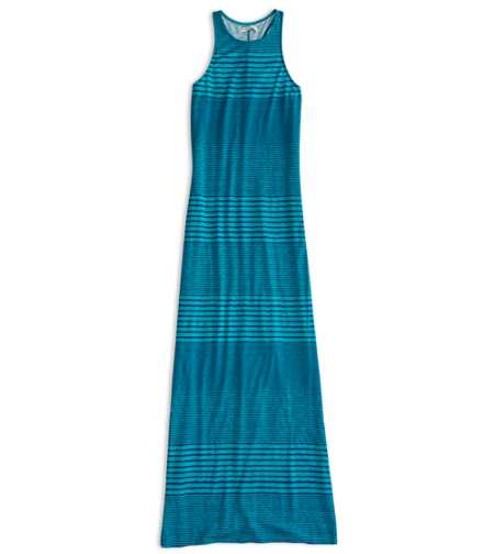AEO Factory Striped Racerback Maxi Dress