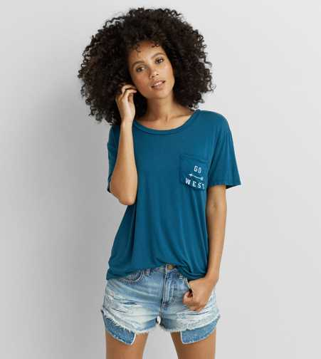 Don't Ask Why Contrast Pocket T-Shirt