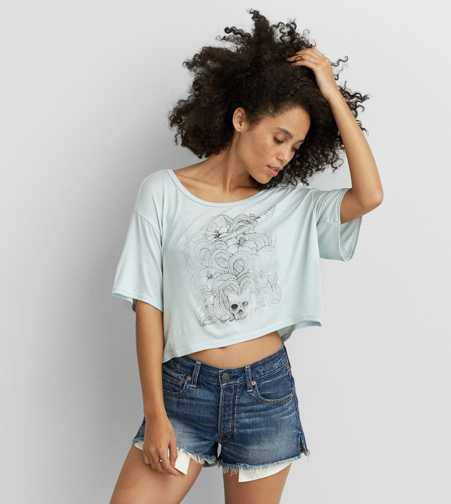 Don't Ask Why Loose Cropped T-Shirt - Buy One Get One 50% Off