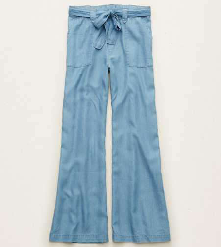 Aerie Chambray Flare Pant