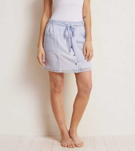 Aerie Button Skirt