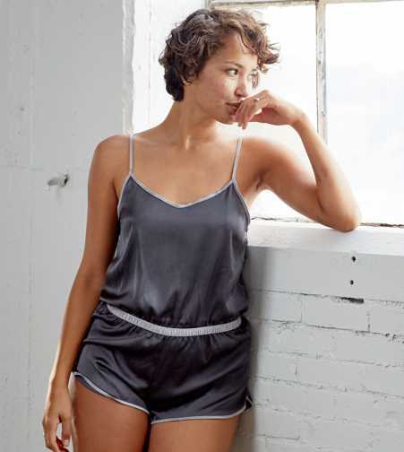 Aerie Satin Sleep Romper