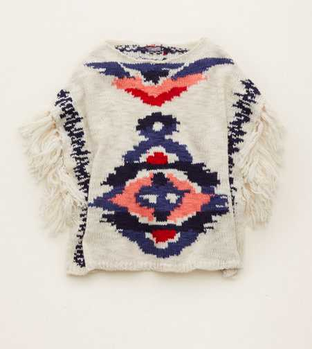 Aerie Fringe Sweater Poncho  - Buy One Get One 50% Off