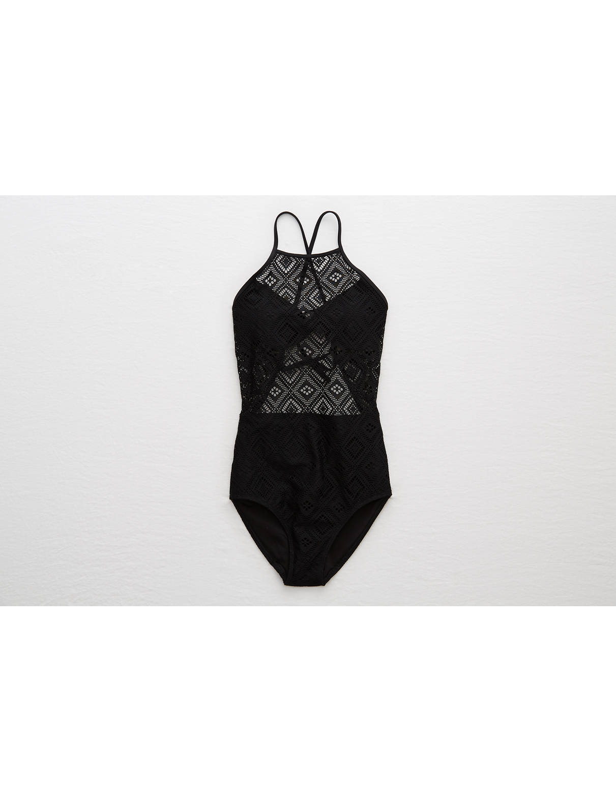 Display product reviews for Aerie One Piece Crochet Swimsuit