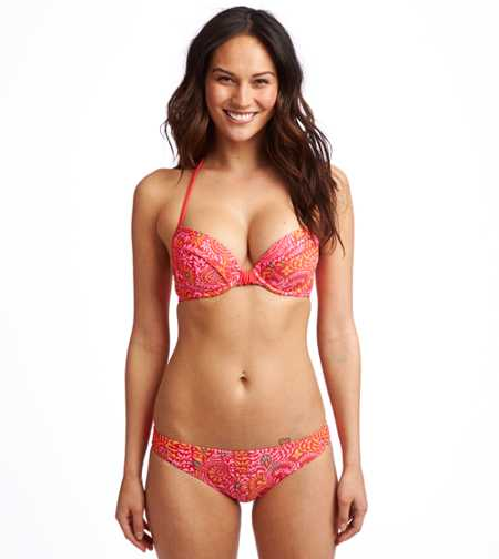 Brooke Island Paisley Print Pushup Bikini Top