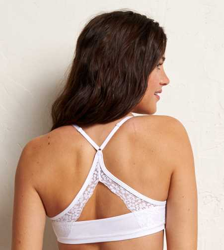 Aerie Lace Back Sports Bra - Free Shipping & Returns