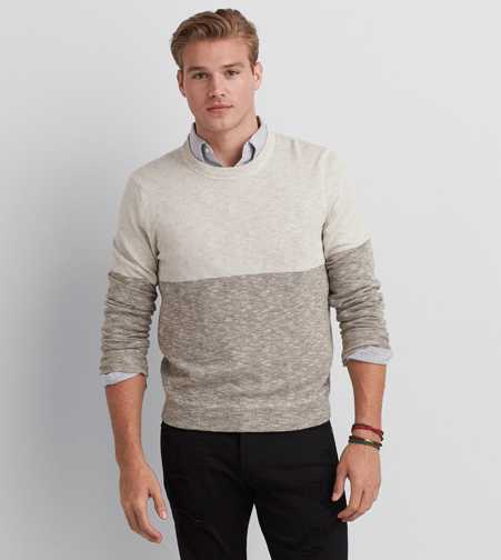 AEO Colorblocked Pullover Sweater