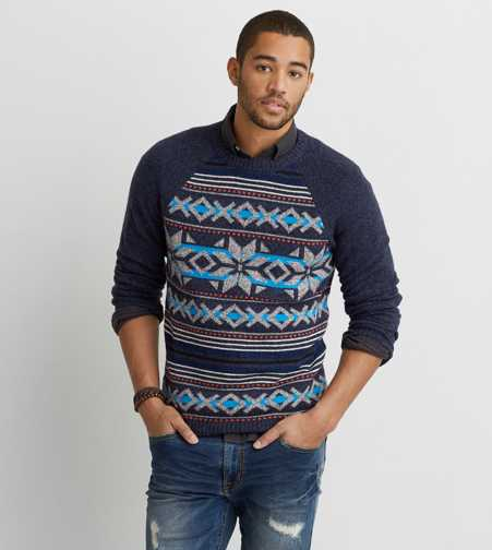 AEO Pattern Crew Sweater