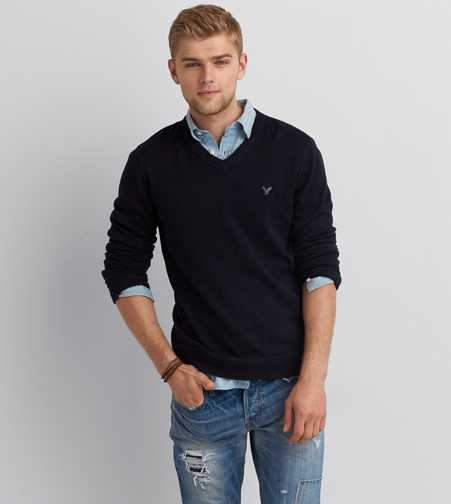 AEO V-Neck Mountain Pass Sweater