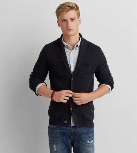 AEO Textured Pocket Cardigan