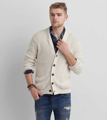 AEO Ribbed Shawl Cardigan