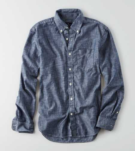 AEO Chambray Button Down Shirt
