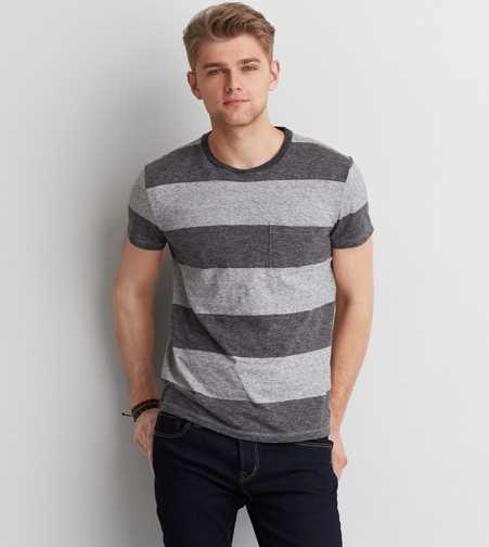 AEO Stripe Crew T-Shirt  - Buy One Get One 50% Off