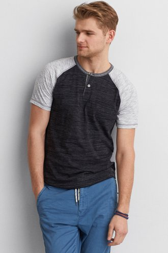 AEO Athletic Baseball Henley  - Buy One Get One 50% Off