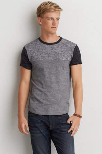 AEO Colorblock Crew T-Shirt  - Buy One Get One 50% Off