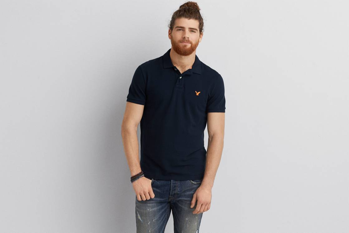 Fleet Navy AE Solid Polo