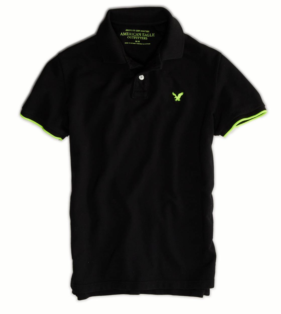 Black AE Tipped Polo