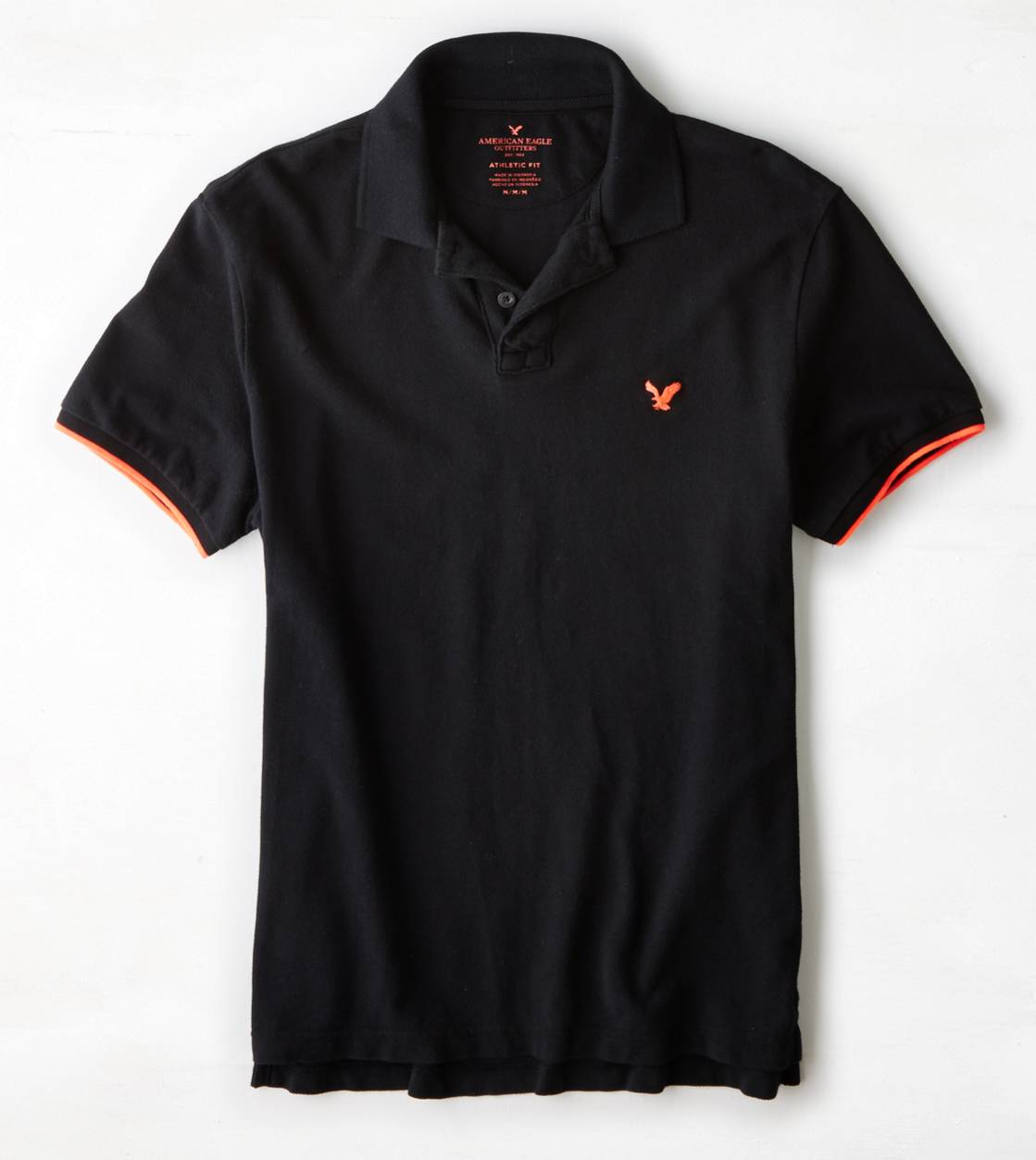 True Black AE Tipped Polo
