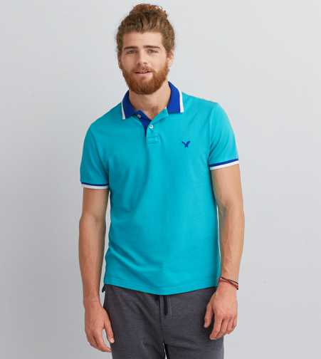 AEO Tipped Polo
