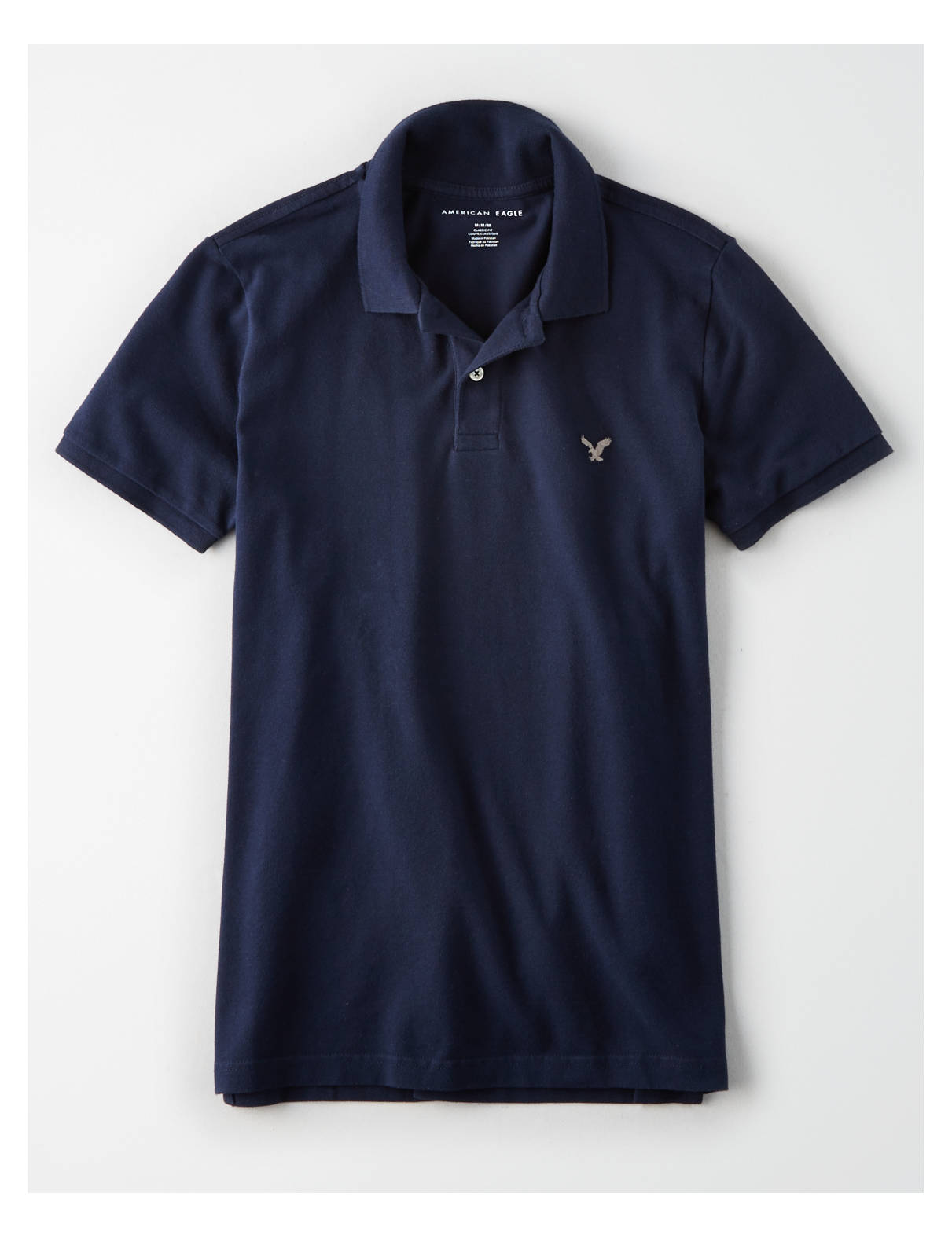 Display product reviews for AEO Flex Solid Pique Polo