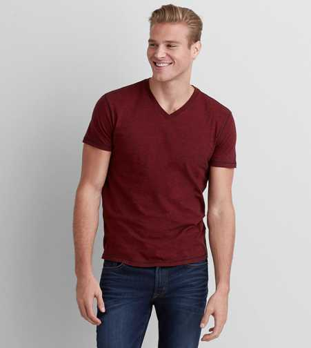 AEO Burnout V-Neck T-Shirt - Buy One Get One 50% Off