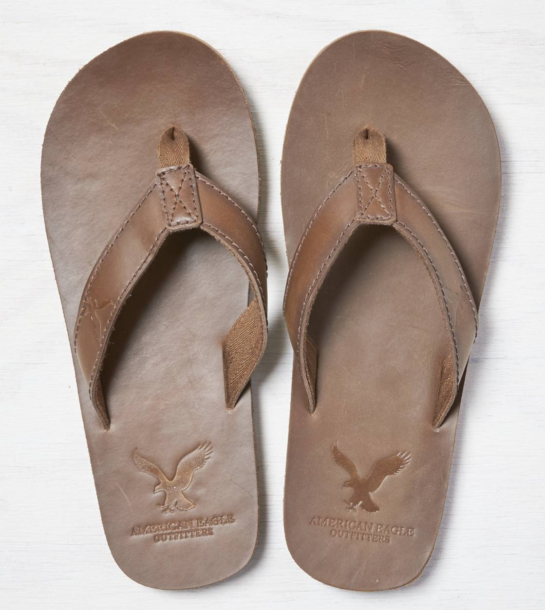 Brown AEO Leather Flip Flop