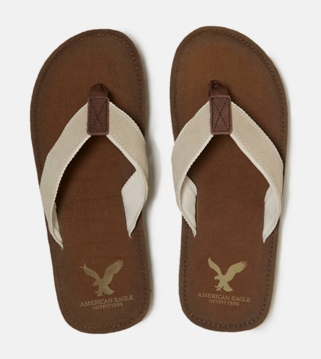 Brown AEO Suede Flip-Flop