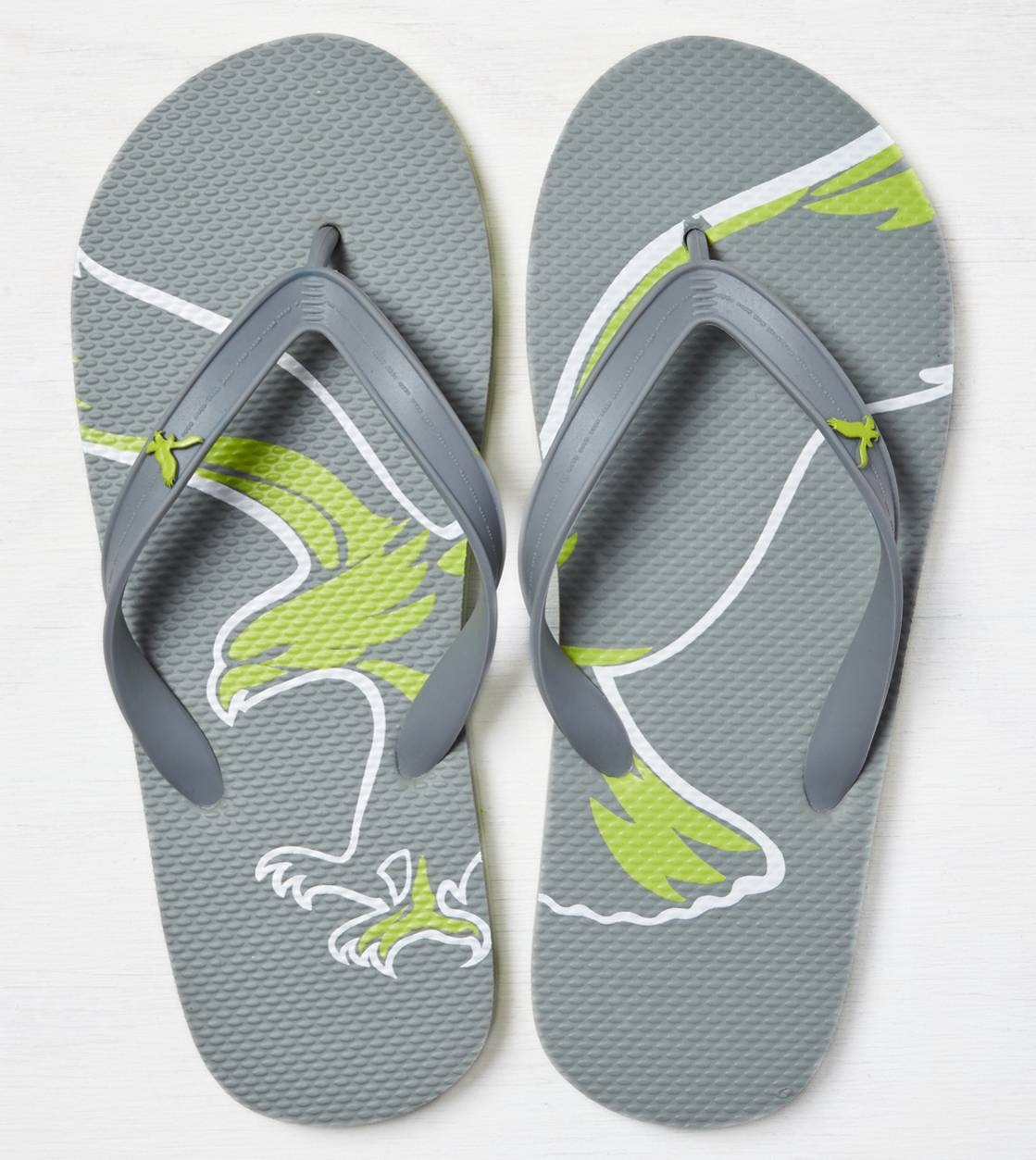 Grey AEO Rubber Flip Flop