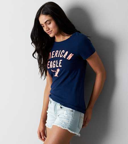 AEO Scoop Neck Graphic T-Shirt