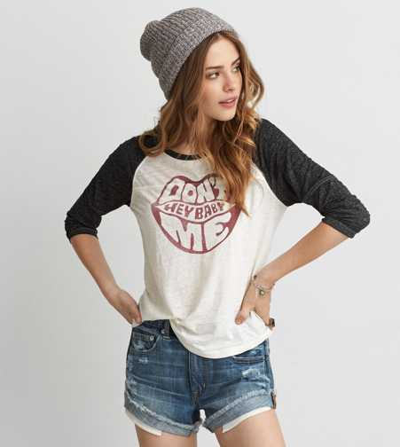 AEO Hey Baby Baseball T-Shirt