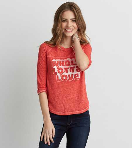 AEO Whole Lotta Love Baseball T-Shirt