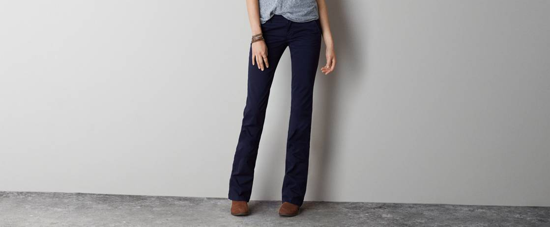 Navy AE Kick Boot Pant