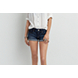 Medium Wash AEO Rolled Denim Shortie