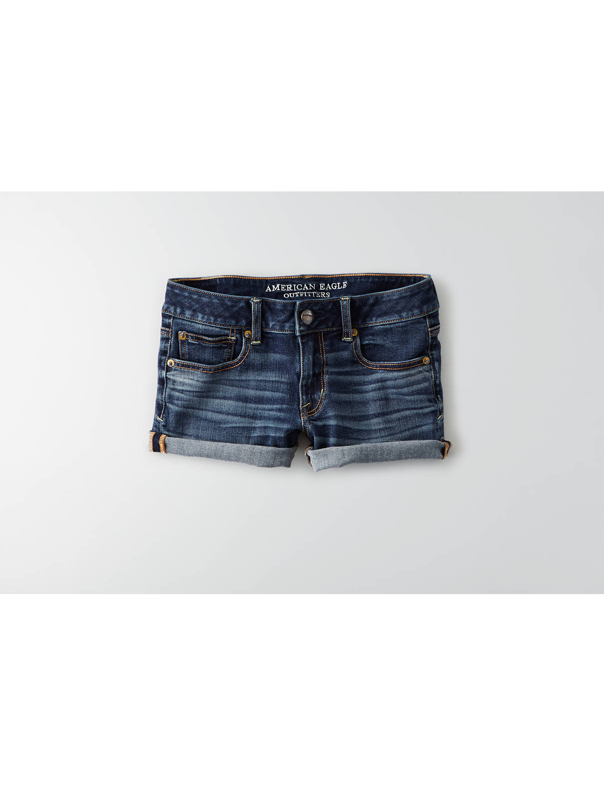 Display product reviews for AEO Denim X4 Shortie