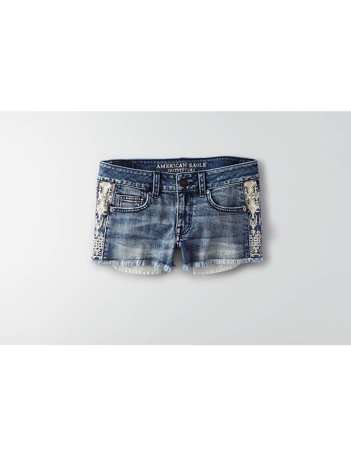 Display product reviews for AEO Denim Shortie