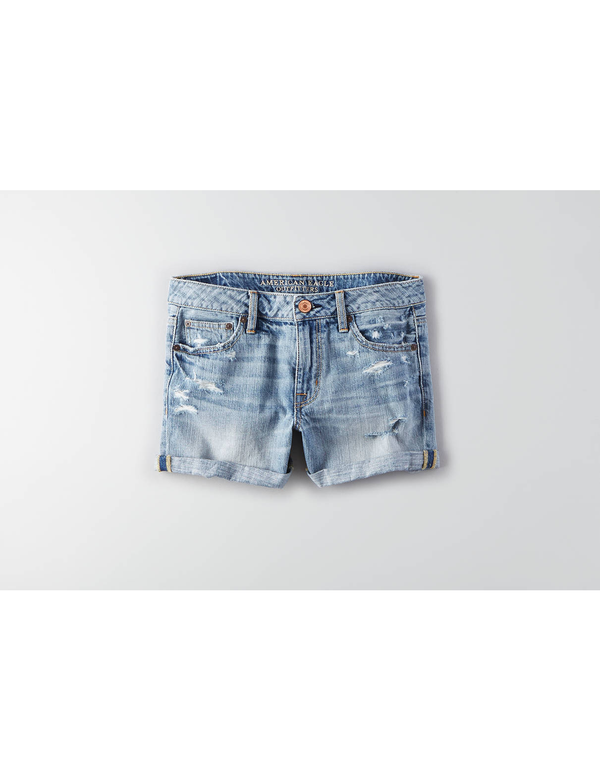 Display product reviews for AEO Denim Rolled Boy Midi Short