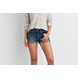 Medium Wash AEO Hi-Rise Denim Shortie