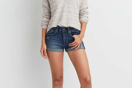 AE High-Rise Denim Shortie