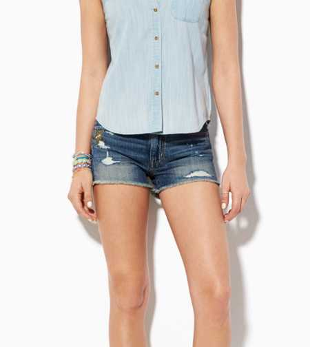 AE Destroyed High-Rise Denim Shortie - Buy One Get One 50% Off