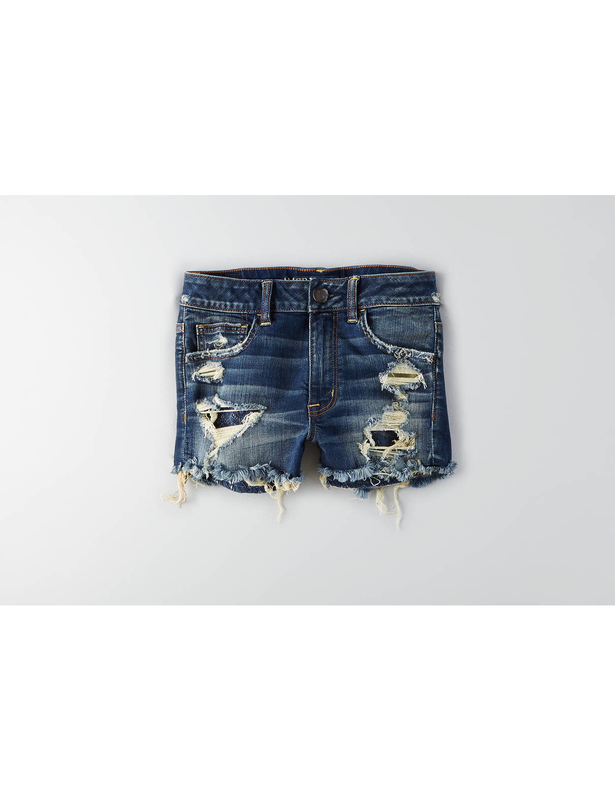 Display product reviews for AEO Denim X Hi-Rise Shortie