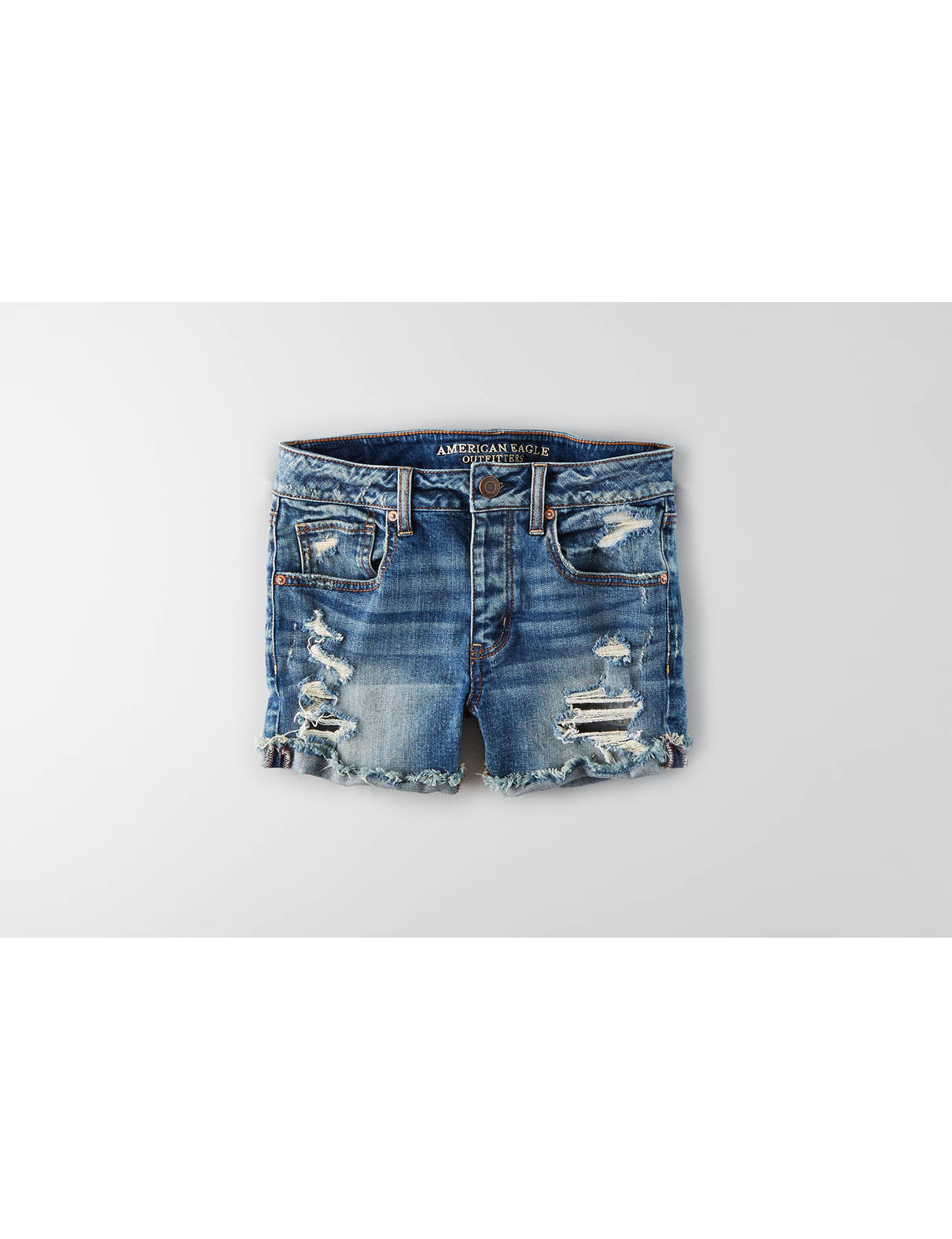 Display product reviews for AEO Tomgirl Midi Short